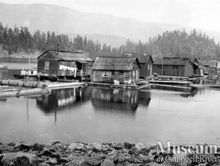 Floating homes began as logging camps
