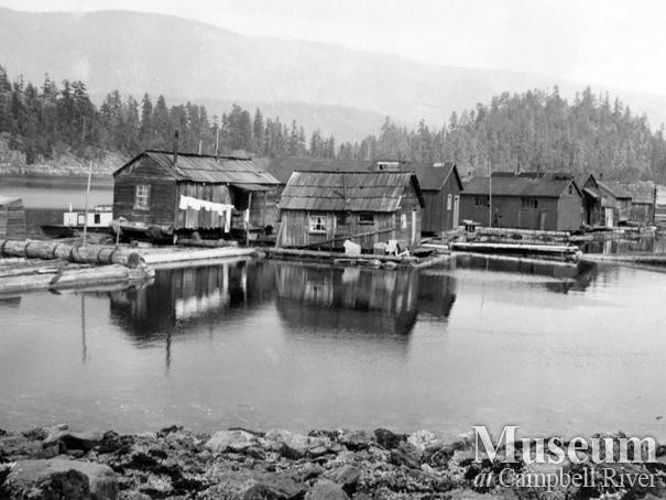 Float camp associated with Dick Parker's logging operations at Trevenon