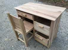 Desk & Chair from Oak Pallets