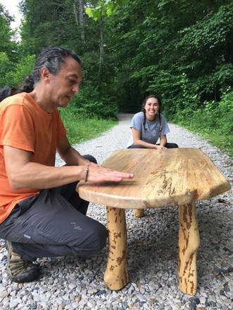 Rob & Georgia Finishing Custom Table