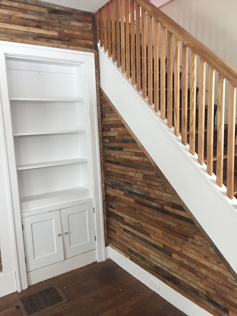 Reclaimed 99-year-old lath wall accent