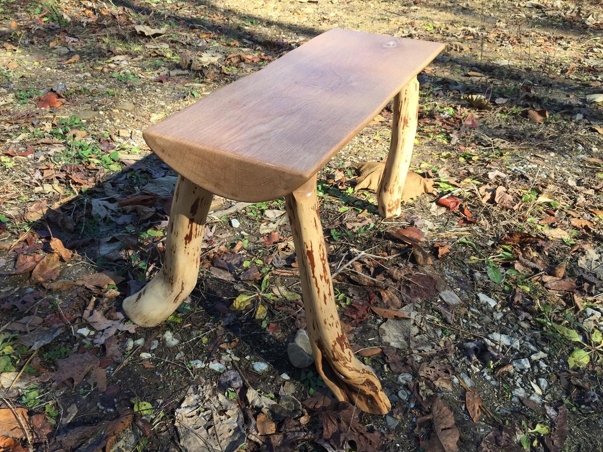Oak Bench & Mountain Laurel Legs