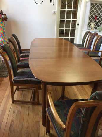 Resurfaced antique table & chairs
