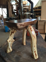 Black walnut seat & rhododendron legs $250