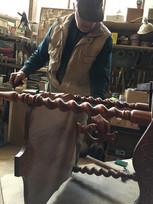 Paul repairing antique furniture