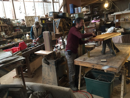 Rob & Paul working at Furniture Magician