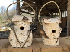 Birchbark birdhouses (chickadee/wren) $25 each