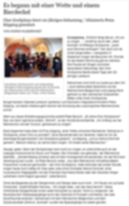 LVZ: 20 Jahre Chor in Großpösna
