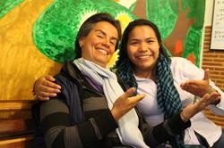 Marisol Garzón y Ángela Moreno Puín