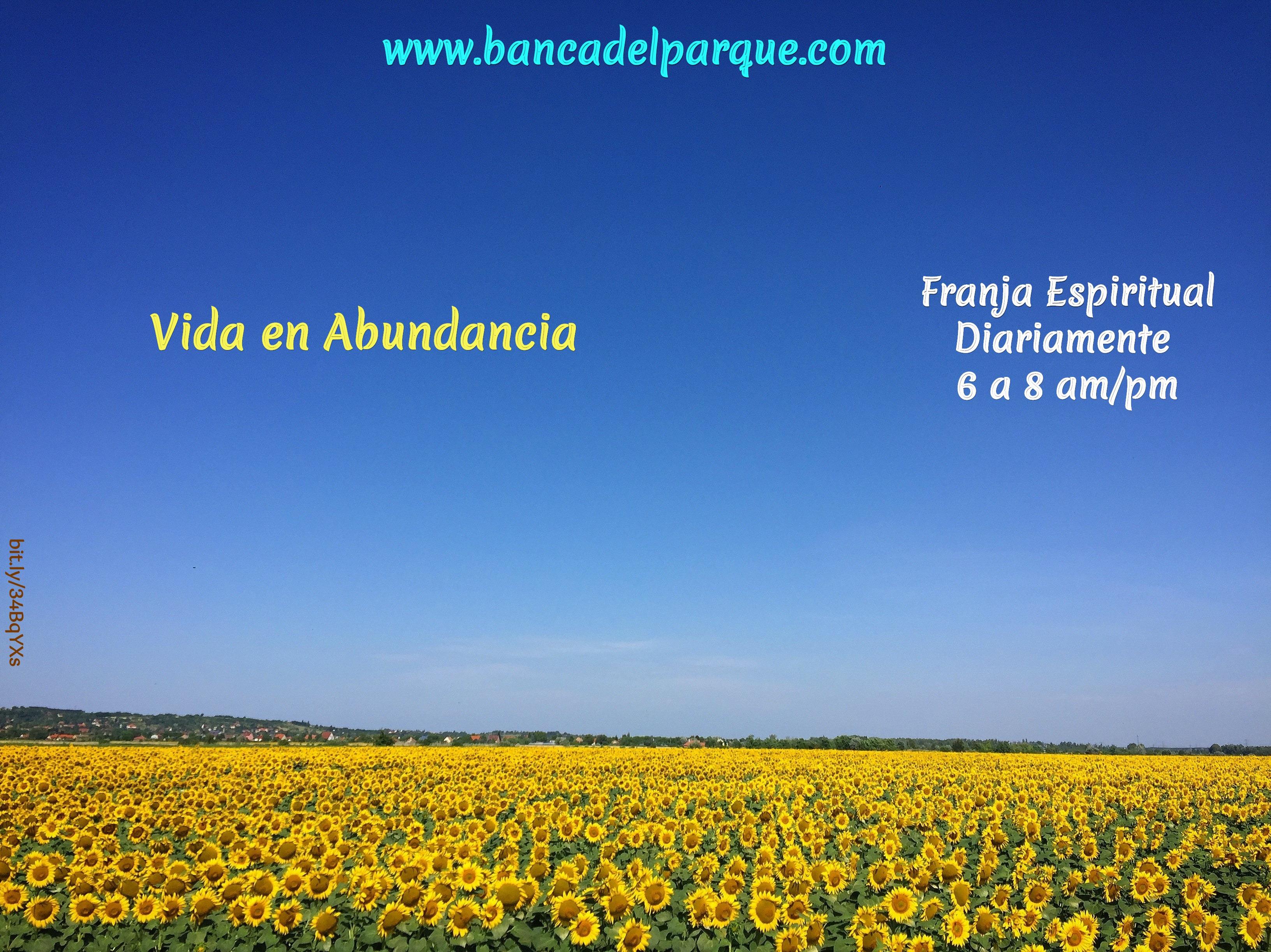 28.10.2020 - Vida en Abundancia