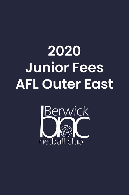Junior AFL Outer East Fees