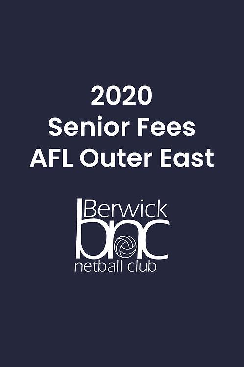 Senior AFL Outer East Fees
