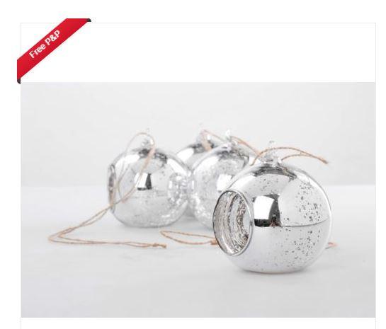 DIY: Designer Mercury Glass baubles on a budget!