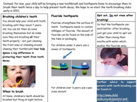 Tooth Brushing Information for our parents