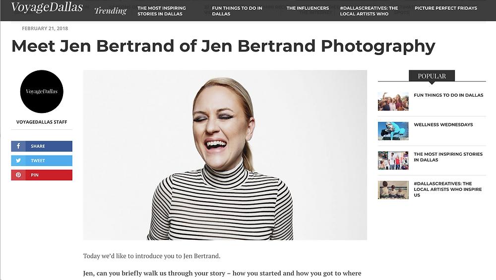 Jen Bertrand Photography Voyage Dallas Photographer