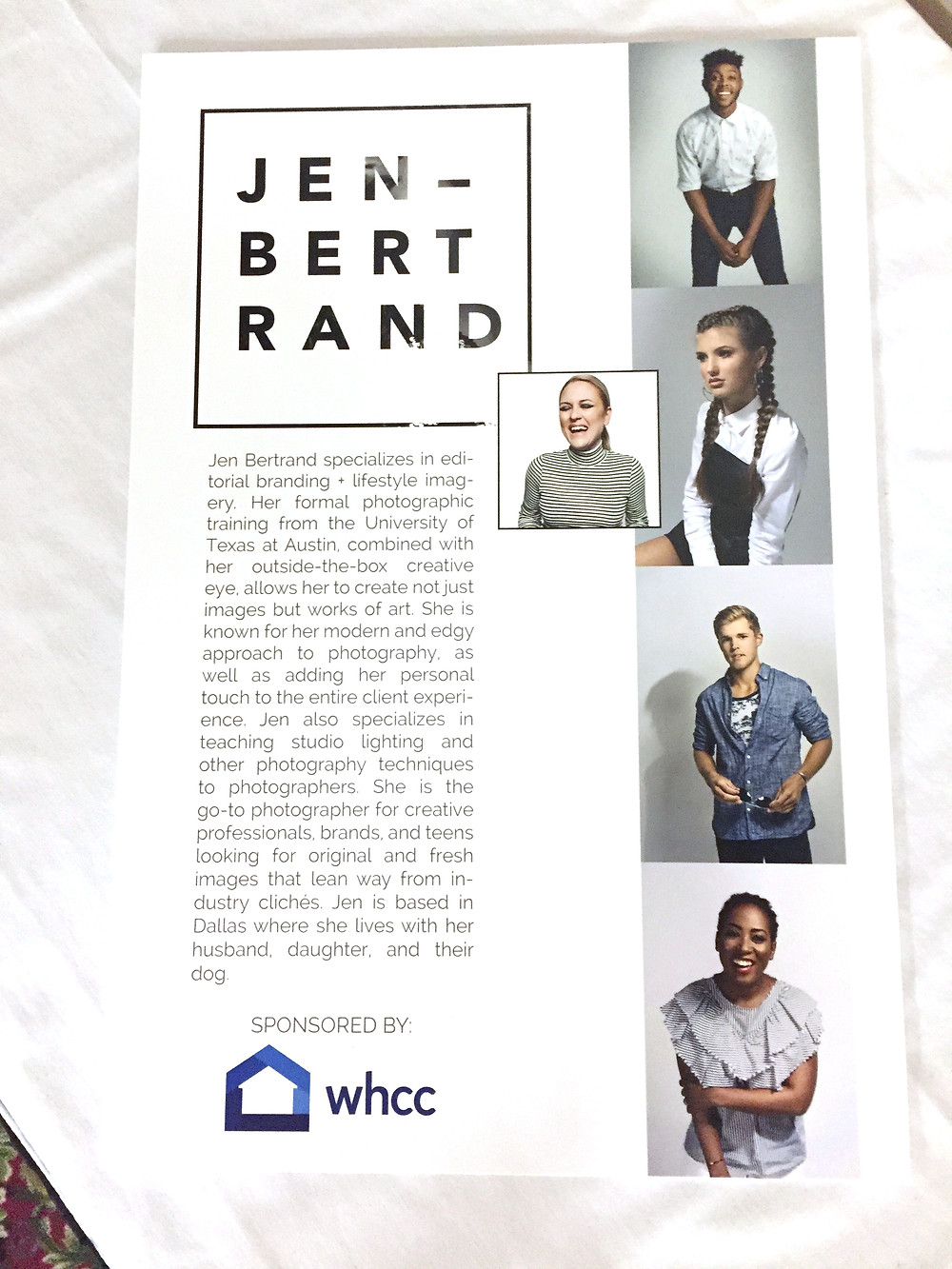 Jen Bertrand Photography sponsored by White House Custom Colour