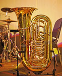 Teilansicht einer Tuba