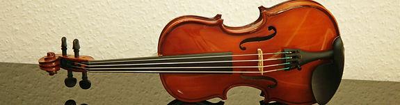 Ansicht einer Violine oder Geige