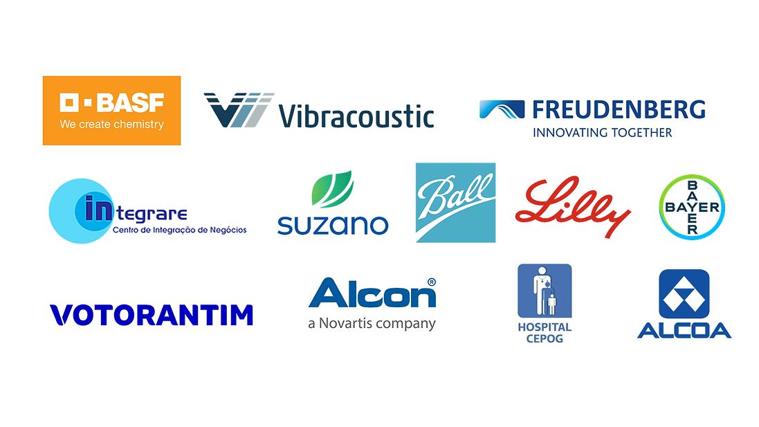 BASF, Vibracoustic, Freudenberg, Integrare, Suzano, Ball, Lilly, Bayer, Votorantim, Alcon, Hospital
