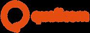 Logo da Qualicom na cor laranja.