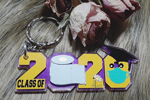 2020 keychain in school colors