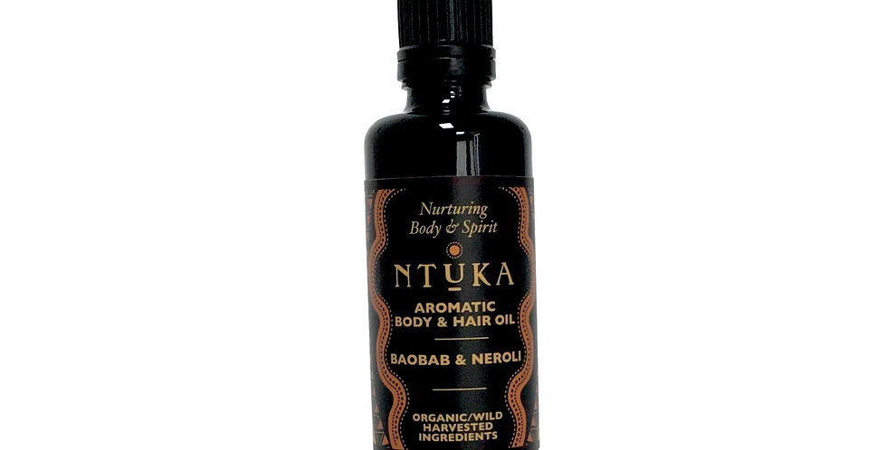 AROMATIC BAOBAB & NEROLI BODY - HAIR OIL -  50ML