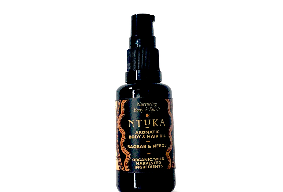 Aromatic Baobab & Neroli  Body & Hair Oil - 5ml sample, 30ml, 50ml