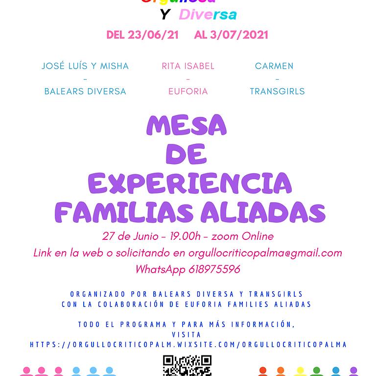 Mesa de experiencias Familias Aliadas LGTBIQA