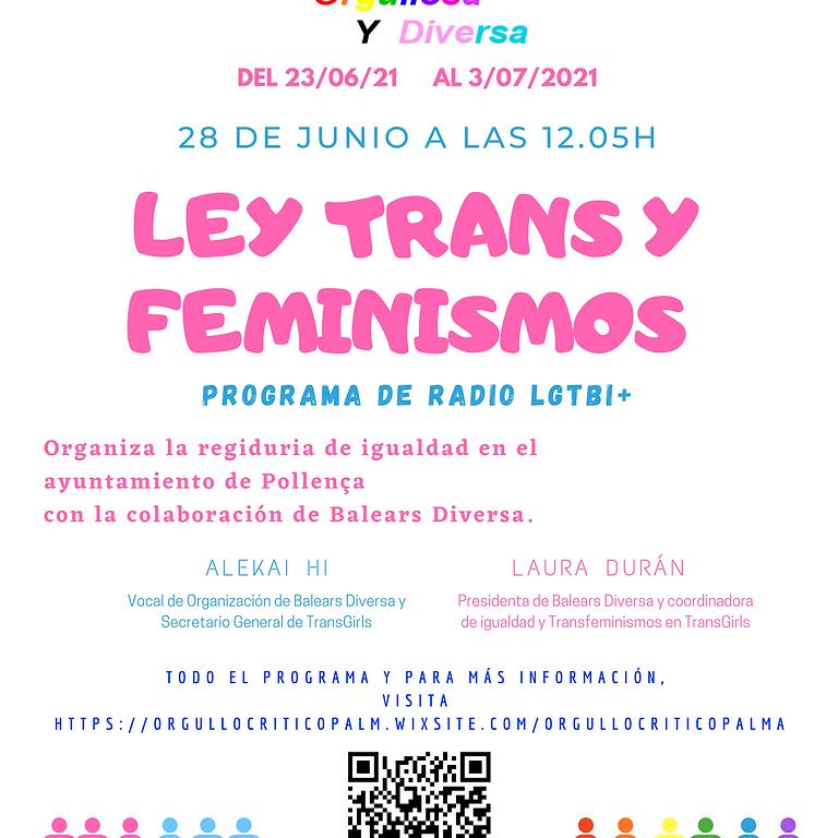 Tertulia en la radio de Ley Trans y feminismos