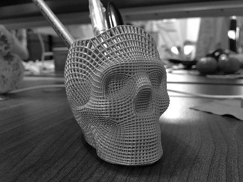 3D Kopf Metalldesign