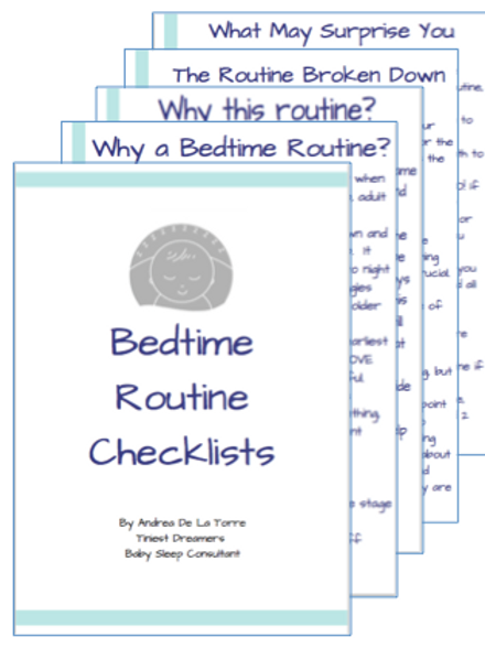 Bedtime Routine Checklists - Fun Font