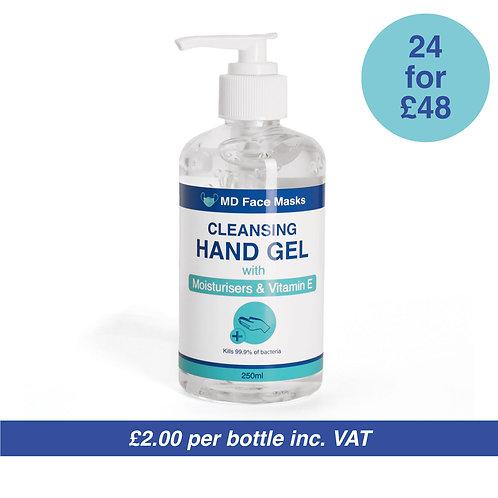 Cleansing Hand Sanitiser Gel - 75% Alcohol - 30x 250ML Pump Bottles