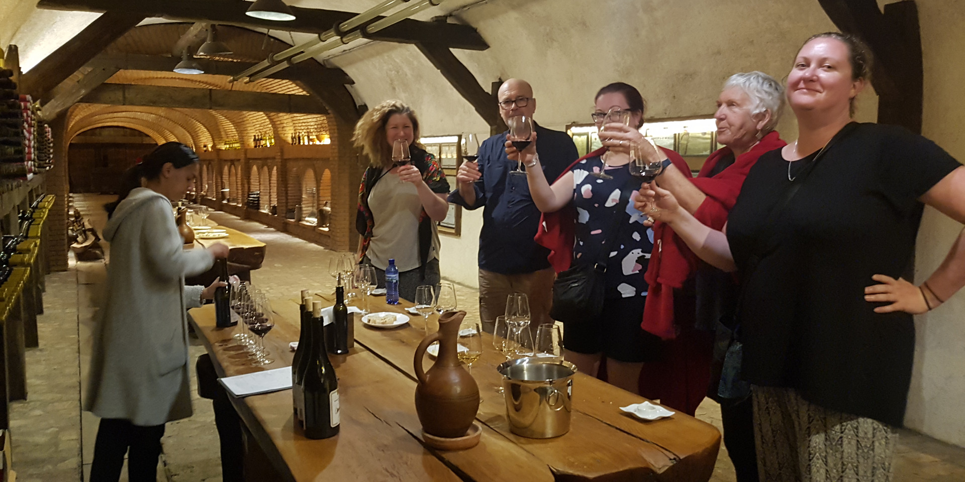 Wine tasting at Khareba Winery