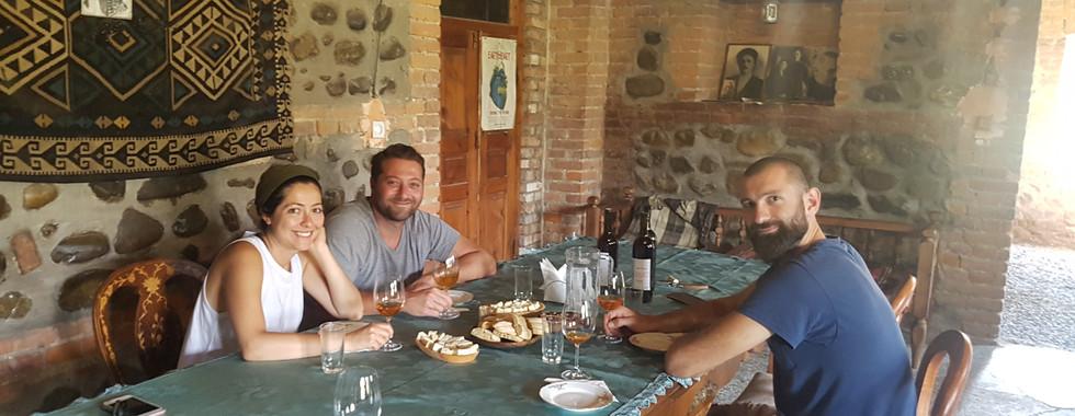 Wine tasting at Lagazi Winery, Zemo Alvani