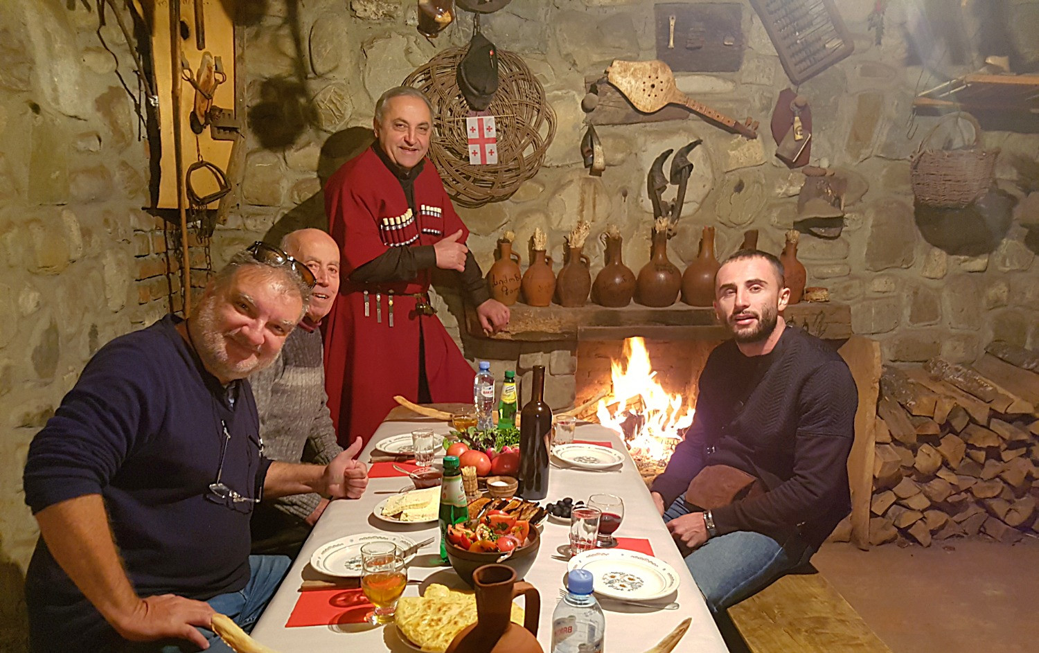 Dinner at a local family with our guests from Spain