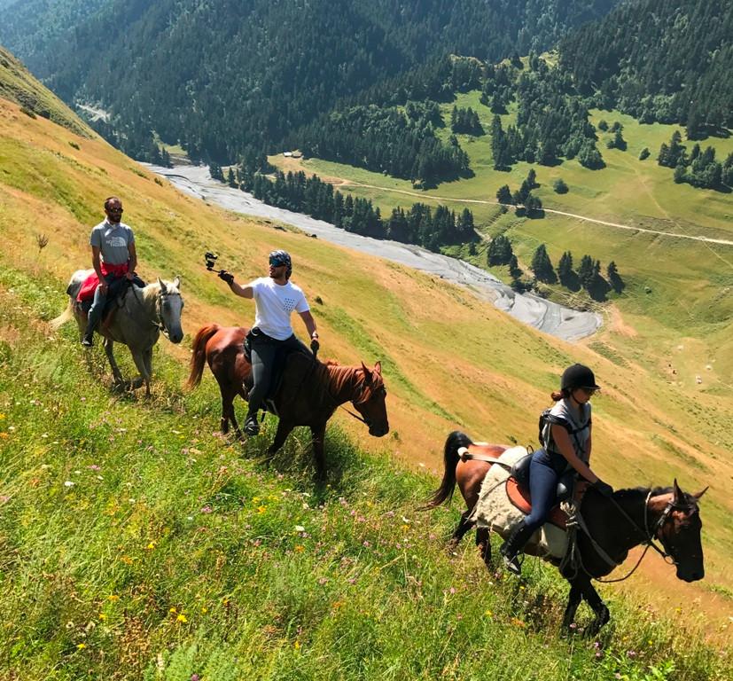 Horse riding in Tusheti