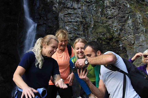 guests from Sweden Gveleti waterfall com