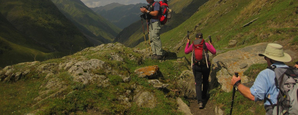 Trekking in Tusheti with our guests from England