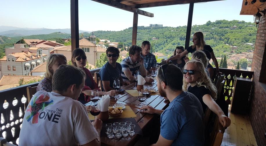 Wine tasting in Sighnaghi