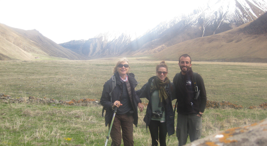 Hiking in Truso Gorge