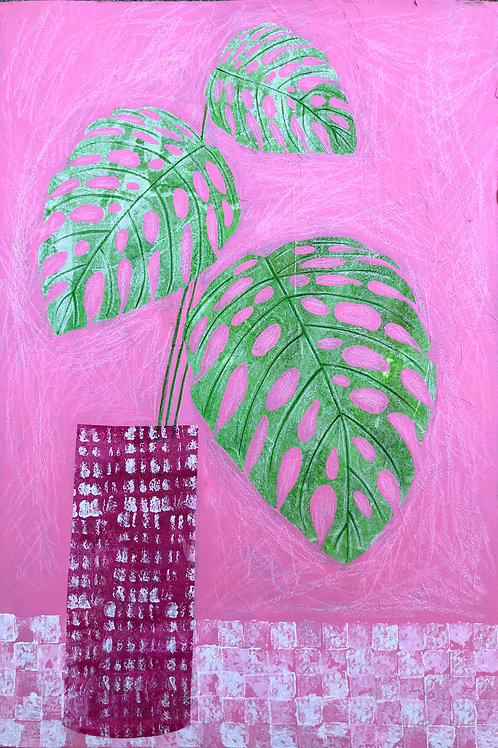 Pink and Green Still Life