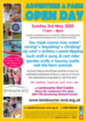 Poster for Open Day Sunday 3rd May 2020.