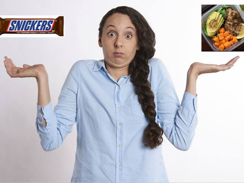 Snickers vs Healthy Meal