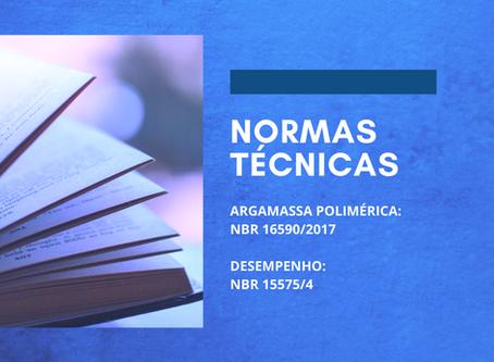 As normas técnicas para argamassa polimérica