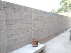 Parede com bloco de concreto