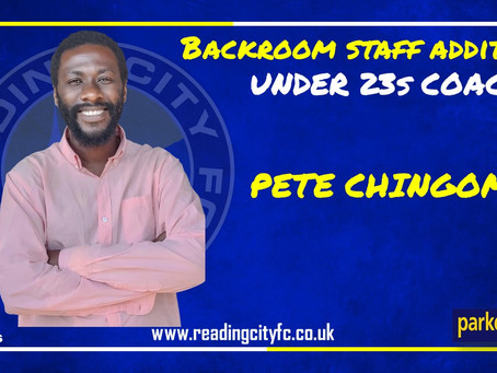 Under 23s Backroom Staff Appointment