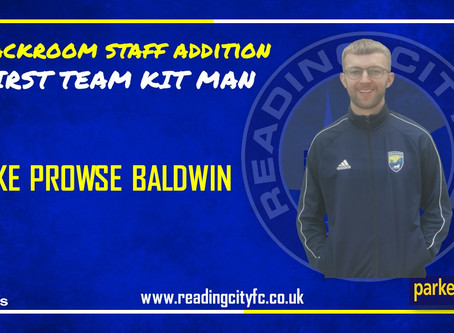 Luke Prowse Baldwin joins as Kit Man
