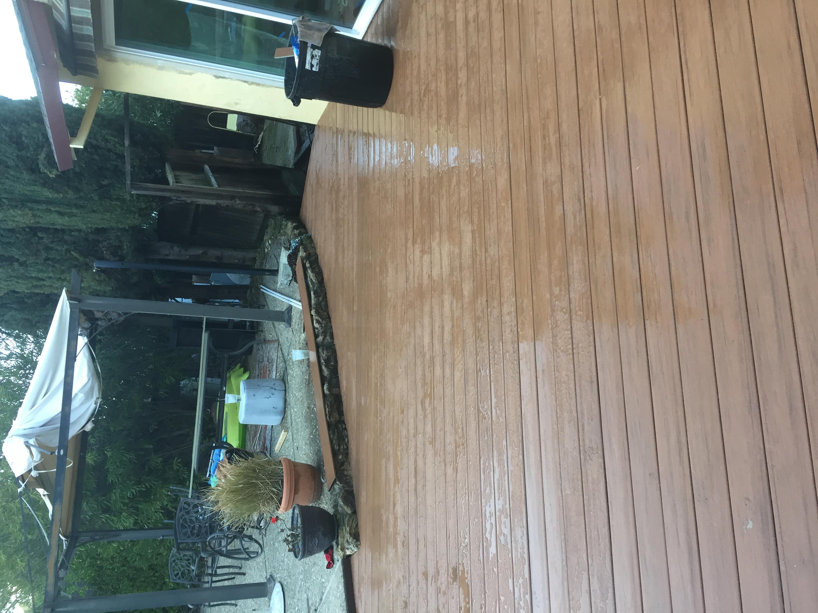 Installed deck