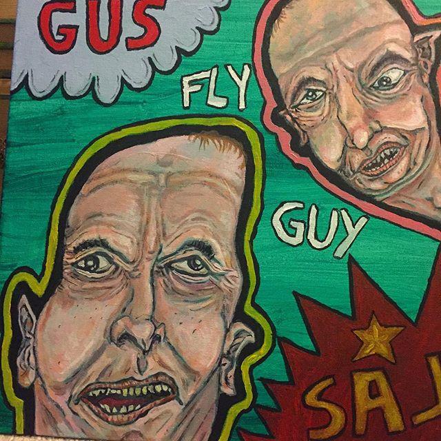 """New piece! """"Gus & Sal"""" 2018 Mykee Morett"""