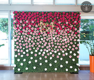 Boxwood Hedge Wall Rental Miami flower roses
